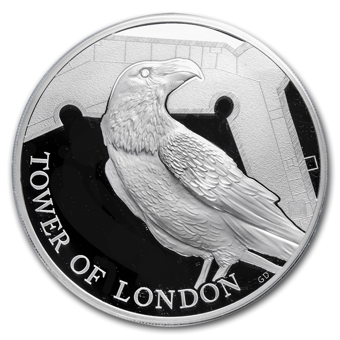 2019 Great Britain 5 oz Silver Proof Legend of the Ravens - HMint Precious Metals