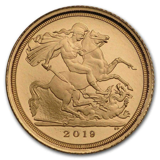2019 Great Britain Gold Quarter Sovereign Proof (w/ Box & COA) - HMint Precious Metals