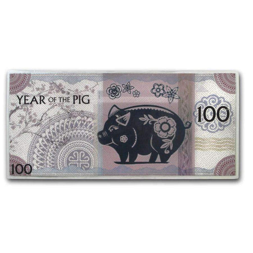 2019 Mongolia Lunar Year of the Pig 5 gram Silver Note - HMint Precious Metals