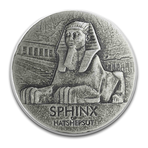 2019 Republic of Chad 5 oz Silver Sphinx of Hatshepsut - HMint Precious Metals