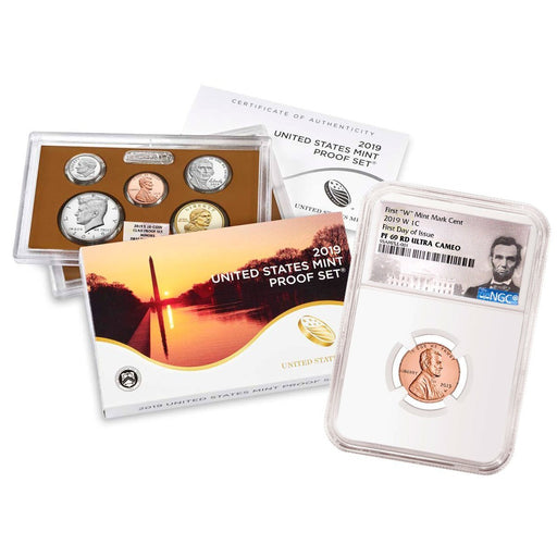 2019-S Lincoln Cent NGC PF-69 RD (First Day) w/ 2019-S U.S. Mint Proof Set NGC Proof - HMint Precious Metals