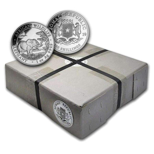 2019 Somalia 500-Coin 1 oz Silver Elephant (Sealed Box) - HMint Precious Metals