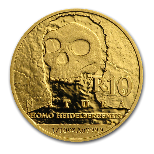 2019 South Africa 1/10 oz Gold Natura Homo Heidelbergensis Proof - HMint Precious Metals