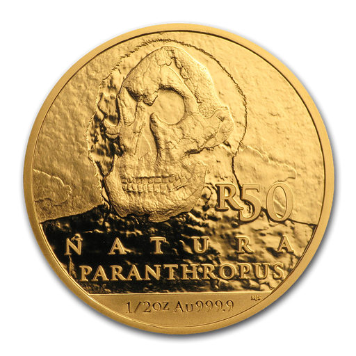 2019 South Africa 1/2 oz Gold Natura Paranthropus Proof - HMint Precious Metals