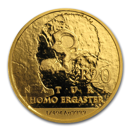 2019 South Africa 1/4 oz Gold Natura Homo Ergaster Proof - HMint Precious Metals