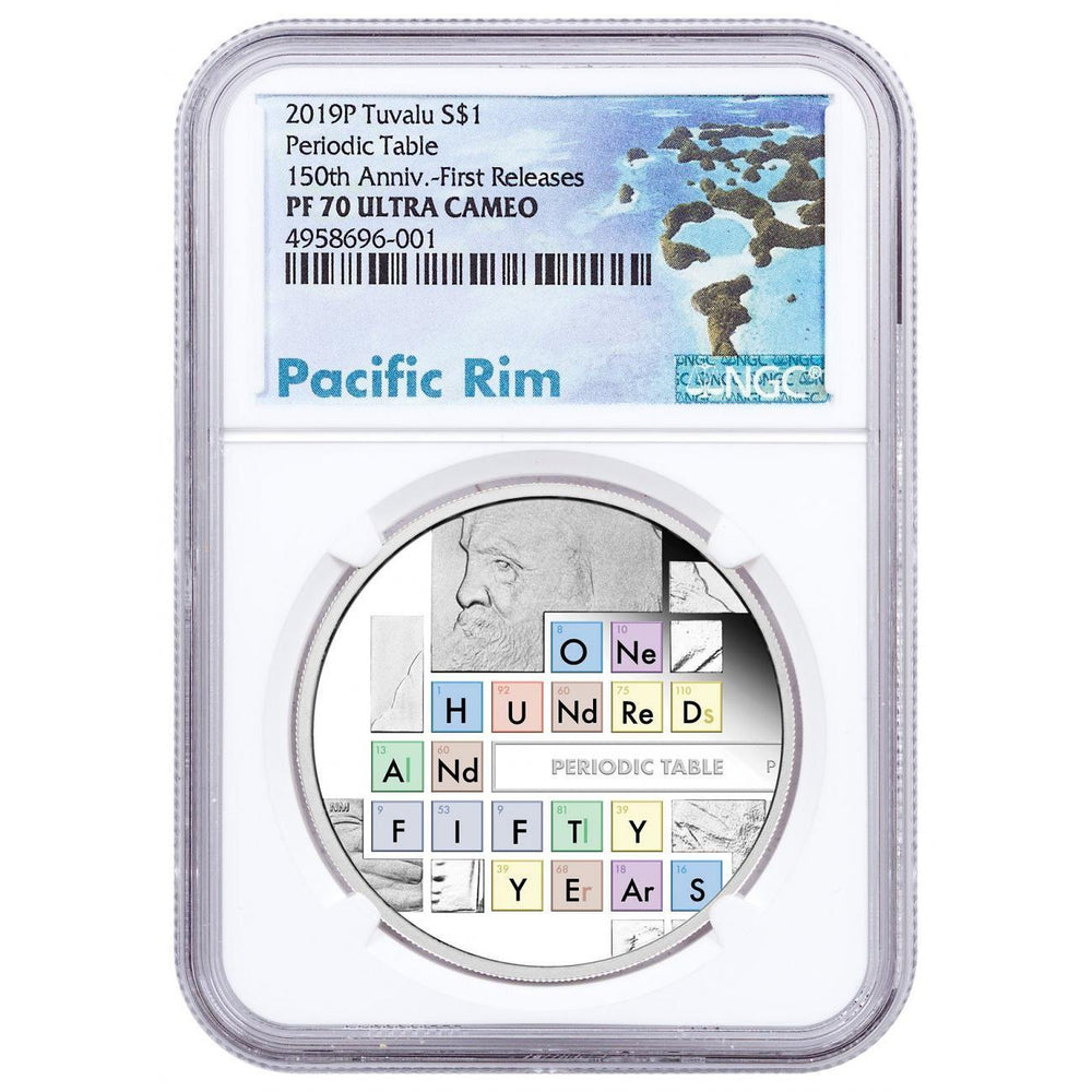 2019 Tuvalu 1 oz Silver Periodic Table Proof NGC PF-70 (First Releases) - HMint Precious Metals