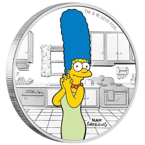 2019 Tuvalu 1 oz Silver The Simpsons: Marge Proof - HMint Precious Metals