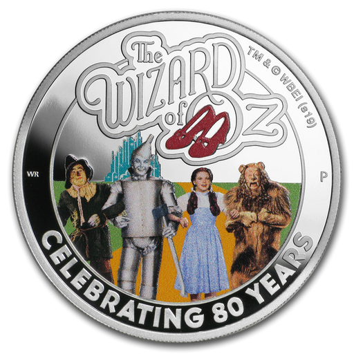 2019 Tuvalu 1 oz Silver The Wizard of Oz 80th Anniv Proof - HMint Precious Metals
