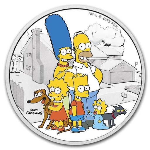 2019 Tuvalu 2 oz Silver The Simpsons Family Proof - HMint Precious Metals