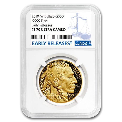 2019-W 1 oz Proof Gold Buffalo PF-70 NGC (Early Releases) - HMint Precious Metals