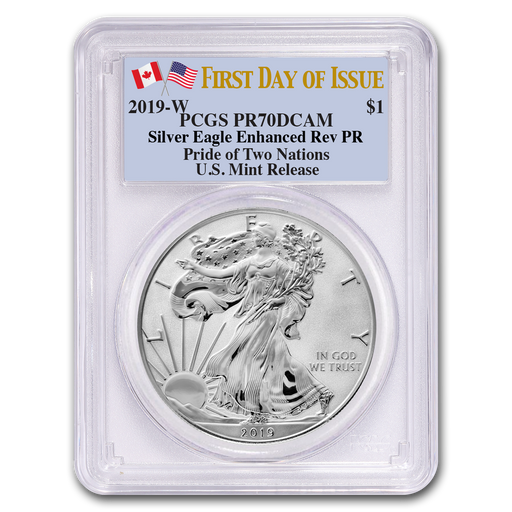 2019-W 1 oz Silver Eagle Enhanced Reverse Proof PR-70 PCGS (First Day) - HMint Precious Metals