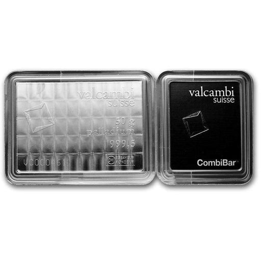 50-Piece 1 gram Palladium CombiBar - Valcambi Suisse (In Assay) - HMint Precious Metals