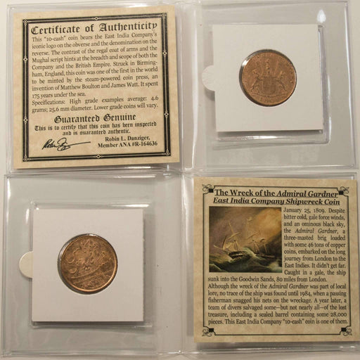Admiral Gardner Shipwreck Treasure Coin Mini Album (High Grade) - HMint Precious Metals