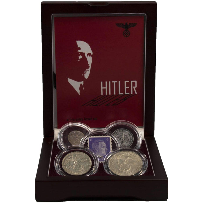 Adolf Hitler: A Collection of Four Coins and One Stamp - HMint Precious Metals