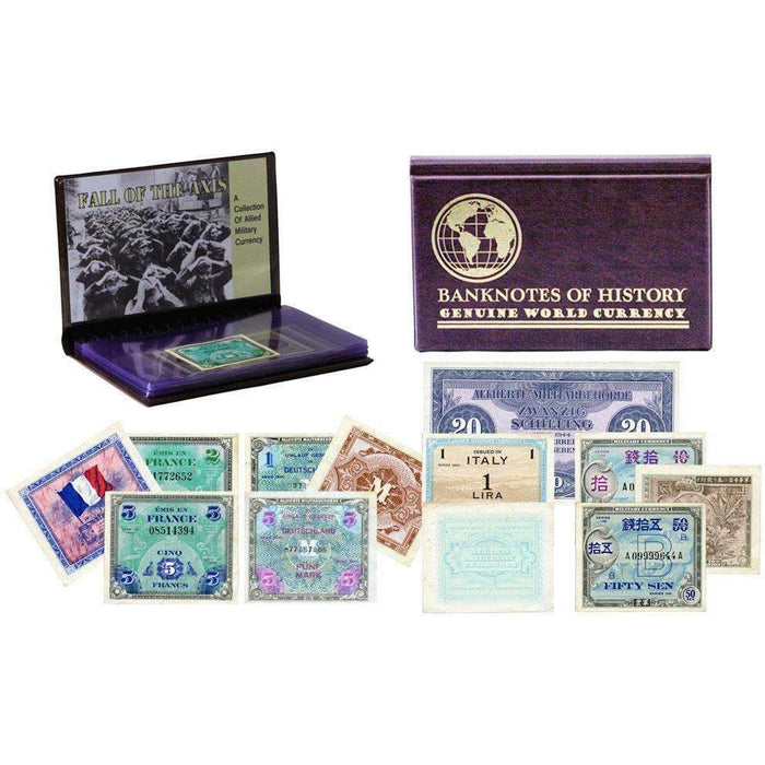 Allied Military Currency 8 Banknote Collection Folio - HMint Precious Metals