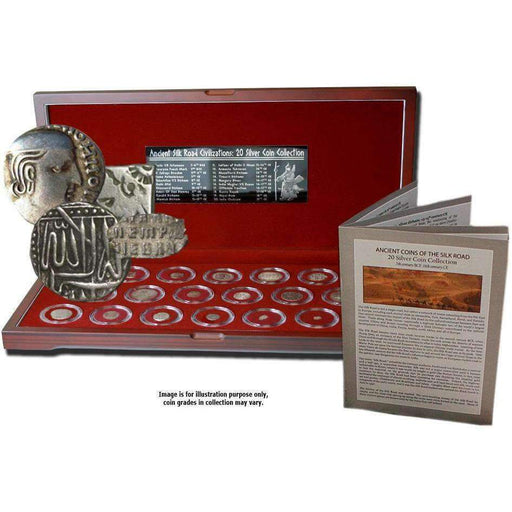Ancient Coins of the Silk Road: Box of 20 Silver Coins - HMint Precious Metals