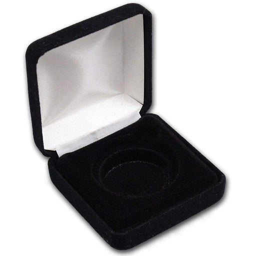 Black Velvet Display & Gift Box - Fits Up to 40 mm - HMint Precious Metals