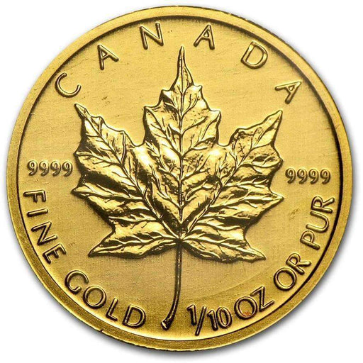 Canada 1/10 oz Gold Maple Leaf (Random Year) - HMint Precious Metals