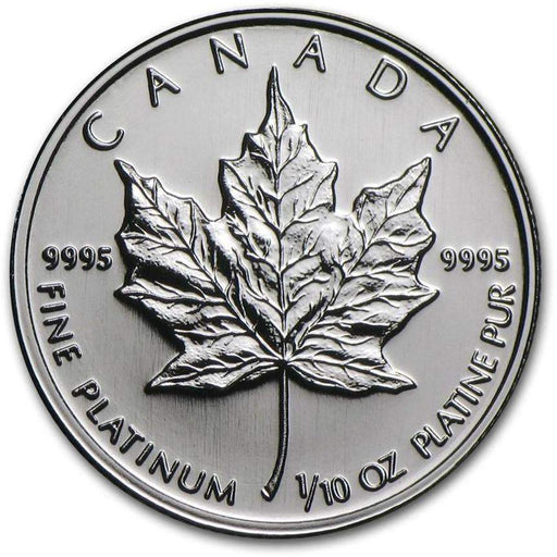 Canada 1/10 oz Platinum Maple Leaf BU (Random Year) - HMint Precious Metals
