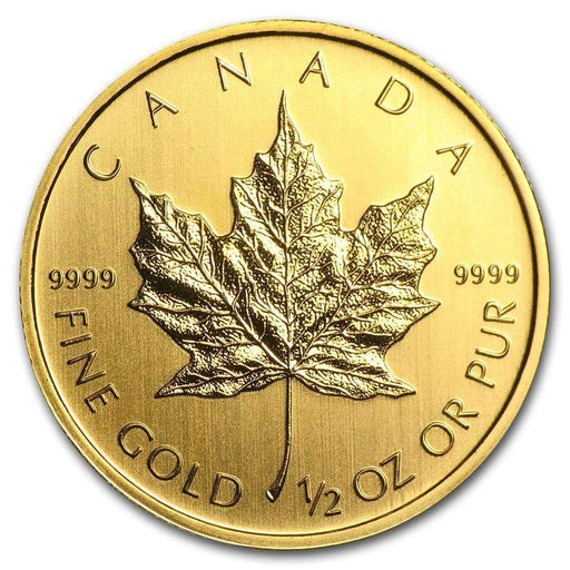 Canada 1/2 oz Gold Maple Leaf (Random Year) - HMint Precious Metals