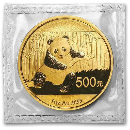 China 1 oz Gold Panda BU (Random Year, Sealed) - HMint Precious Metals