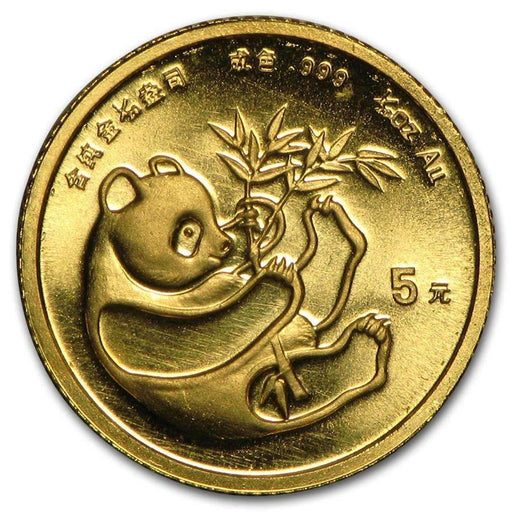 China 1/20 oz Gold Panda BU (Random Year, Not Sealed) - HMint Precious Metals