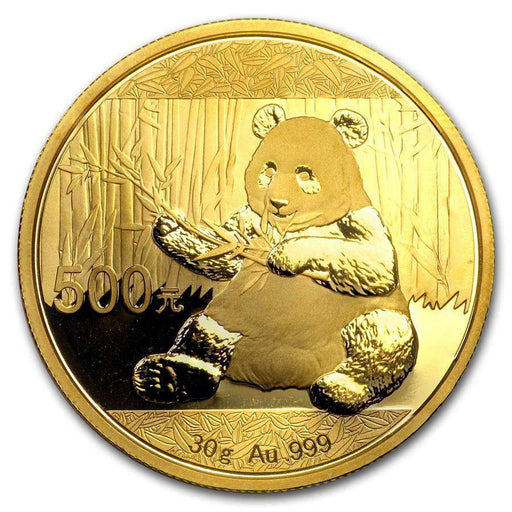 China 30 gram Gold Panda BU (Random Year, Not Sealed) - HMint Precious Metals