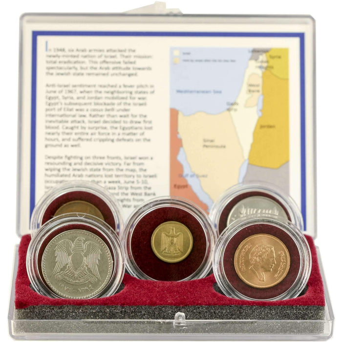 Collection of Five Coins Related to the Six-Day War - HMint Precious Metals