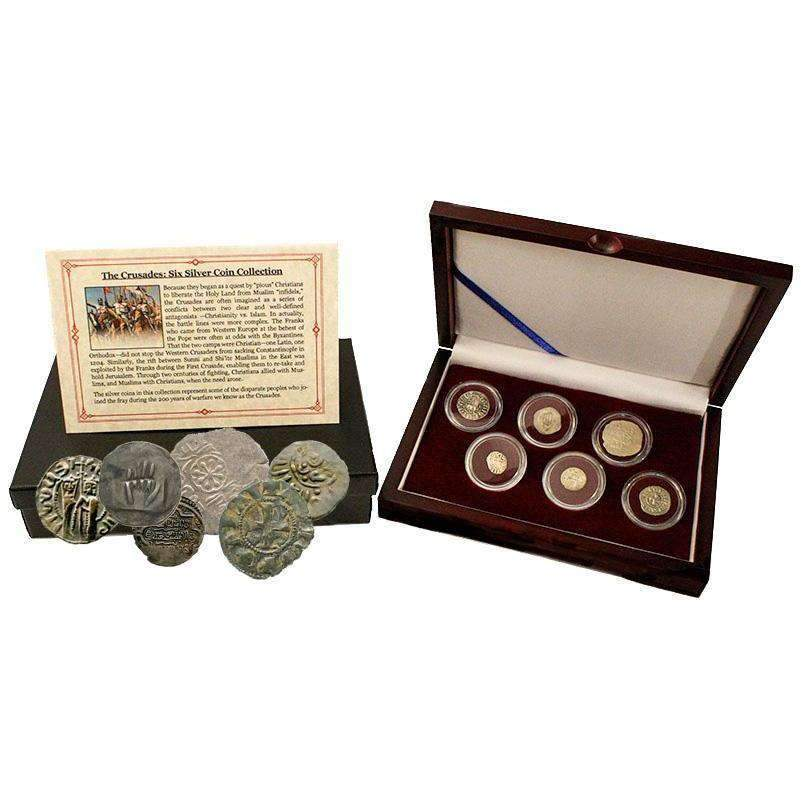 Crusader: Friends & Foes, Box of 6 Silver Medieval Coins - HMint Precious Metals