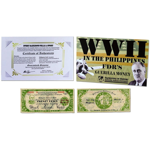 FDR's Philippine 20 Pesos Single Banknote Folder - HMint Precious Metals
