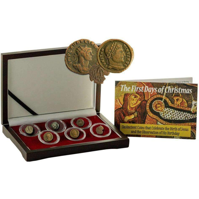 First Days of Christmas: Box of 6 Ancient Coins Pertaining to the Nativity of Jesus Christ - HMint Precious Metals
