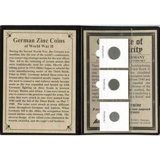 German Zinc Coins of World War II Album - HMint Precious Metals