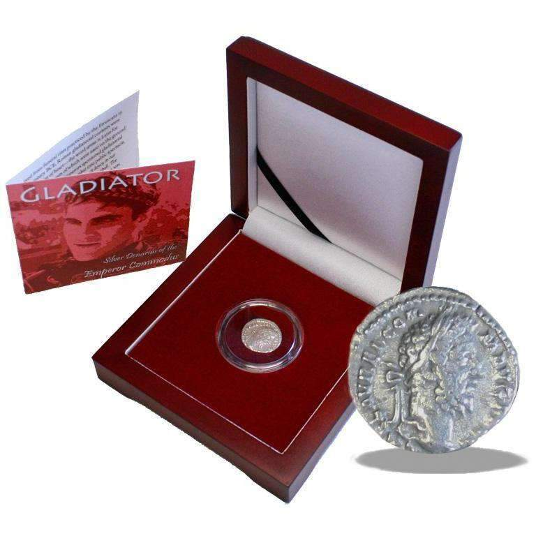 Gladiator Box: Silver Denarius of the Emperor Commodus - HMint Precious Metals