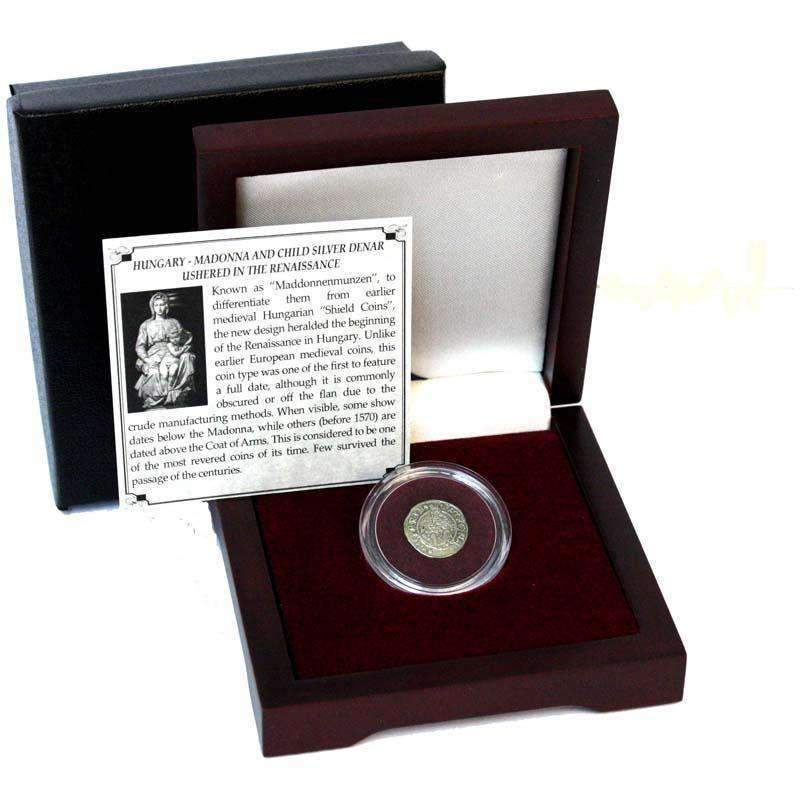 Madonna & Child Box: Virgin Mary and baby Jesus Silver Denar of Hungary - HMint Precious Metals