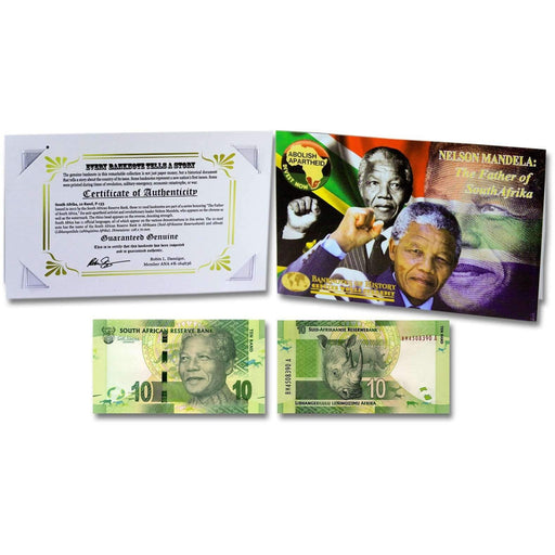 Mandela Father of Africa 10 Rand Single Banknote Folder - HMint Precious Metals