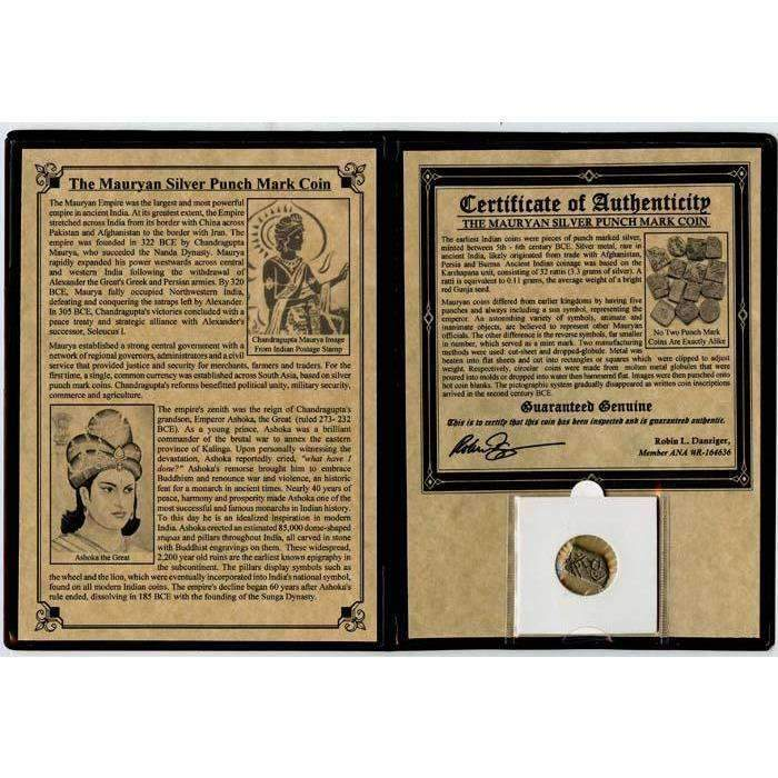 Mauryan Silver Punch Mark Coin Album - HMint Precious Metals