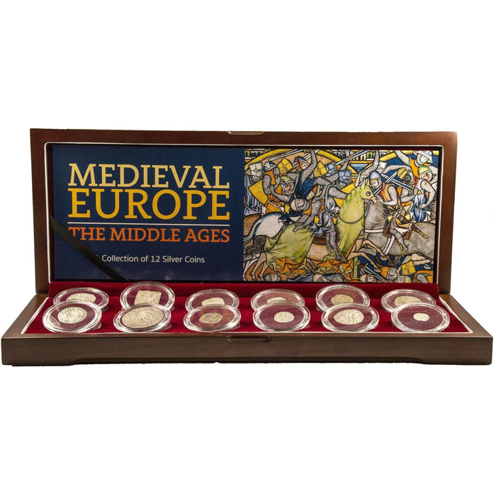 Medieval Europe: A Collection of 12 Silver Coins - HMint Precious Metals