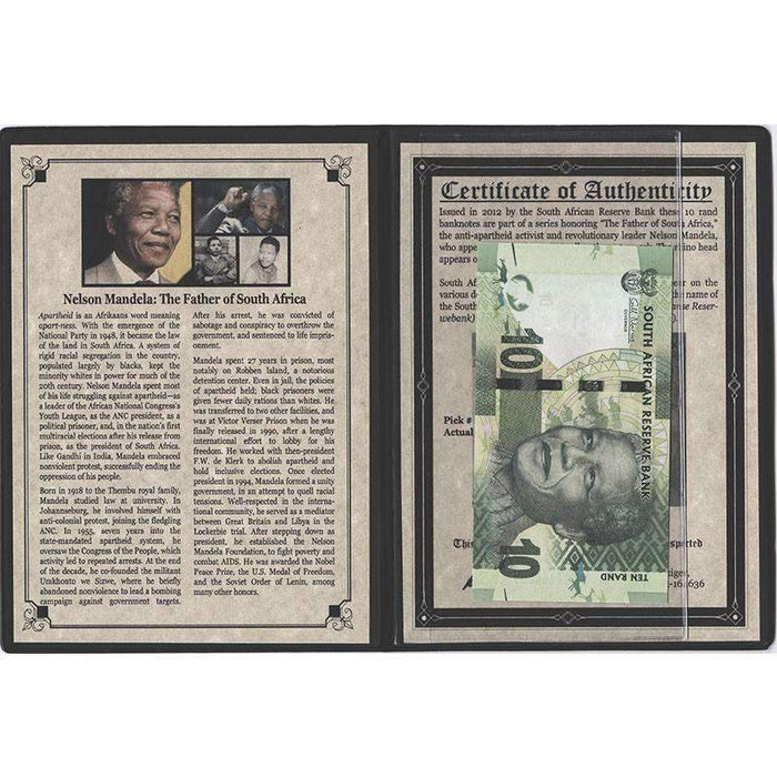 Nelson Mandela: The Father of South Africa Album - HMint Precious Metals