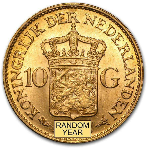 Netherlands Gold 10 Guilders Average Circ (Random Year) - HMint Precious Metals