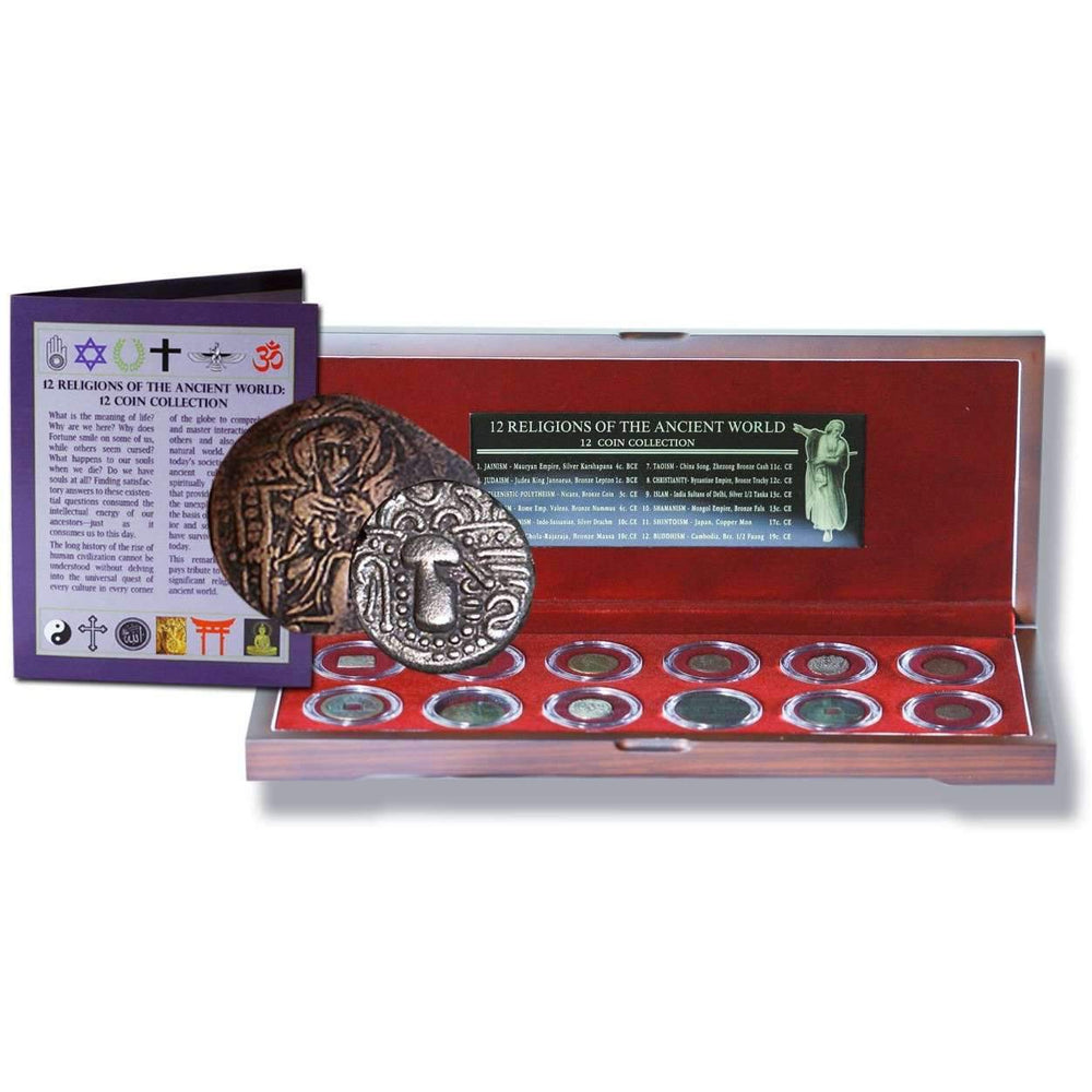Religions Of The Ancient World: Box of 12 Ancient Coins - HMint Precious Metals