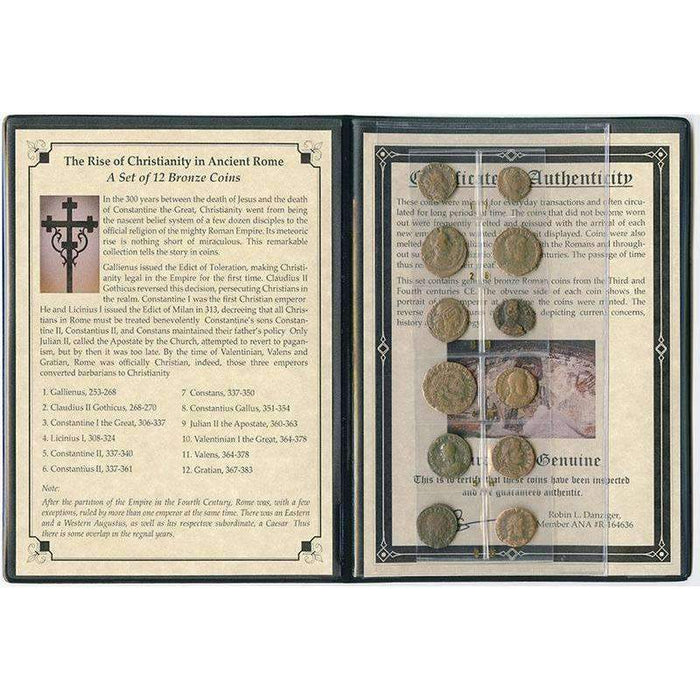 Rise of Christianity in Ancient Rome: 12 Bronze Coins Album - HMint Precious Metals