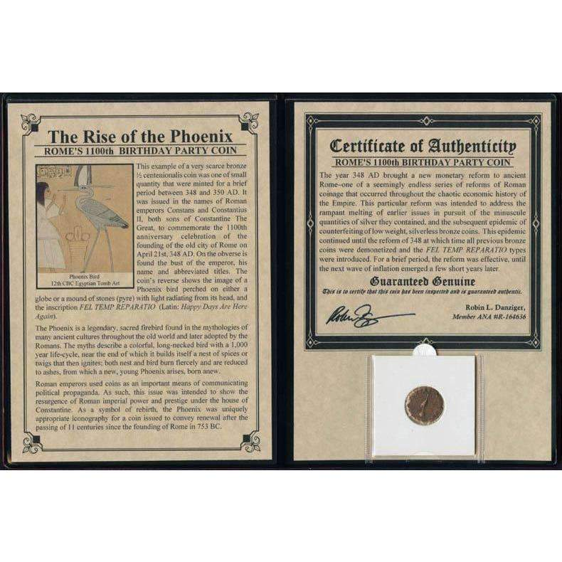 Rise Of The Phoenix-Rome's 1100th Birthday Party Coin Album - HMint Precious Metals