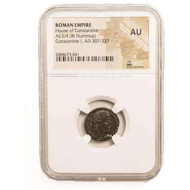 Roman AE of Constantine I, the Great (AD 272-337) NGC (AU) - HMint Precious Metals