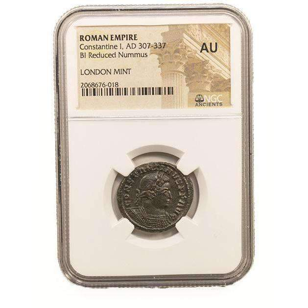 Roman AE of Constantine I, the Great (AD 272-337) NGC-London Mint (AU) - HMint Precious Metals