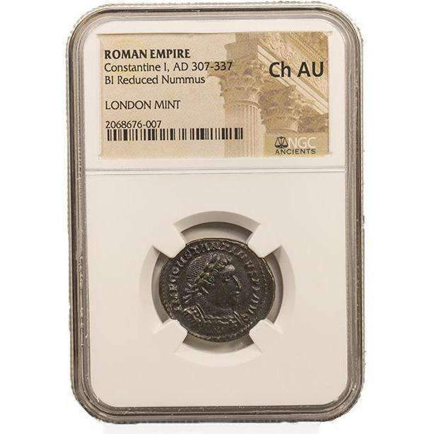 Roman AE of Constantine I, the Great (AD 272-337) NGC-London Mint (CH-AU) - HMint Precious Metals