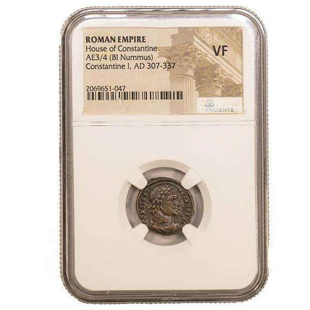 Roman AE of Constantine I, the Great (AD 272-337) NGC (VF) - HMint Precious Metals