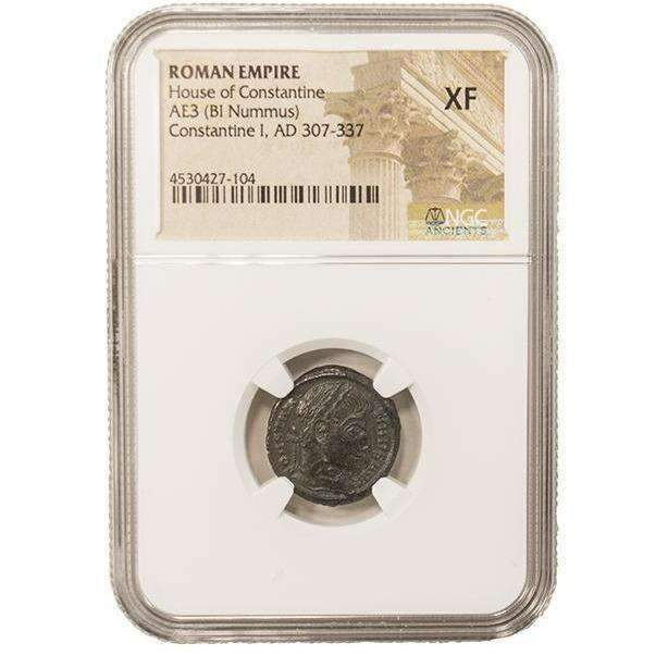 Roman AE of Constantine I, the Great (AD 272-337) NGC (XF) - HMint Precious Metals