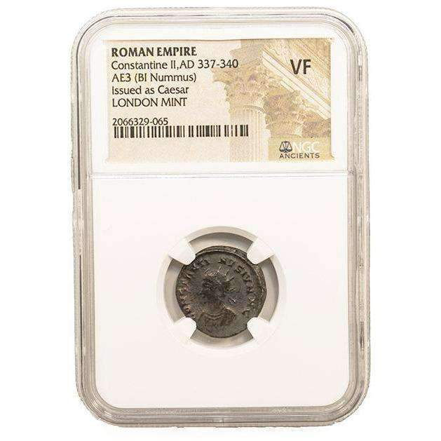 Roman AE of Constantine II (AD 316-340) NGC-London Mint (VF) - HMint Precious Metals