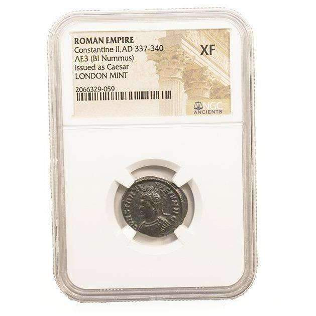 Roman AE of Constantine II (AD 316-340) NGC-London Mint (XF) - HMint Precious Metals
