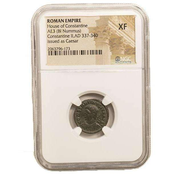 Roman AE of Constantine II (AD 316-340) NGC (XF) - HMint Precious Metals